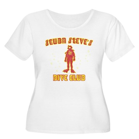 Scuba Steve's Dive Club Women's Plus Size Scoop Ne