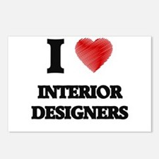 I love Interior Designers Postcards (Package of 8)