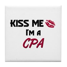 Kiss Me I'm a CPA Tile Coaster