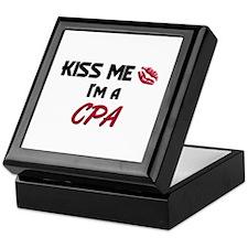 Kiss Me I'm a CPA Keepsake Box
