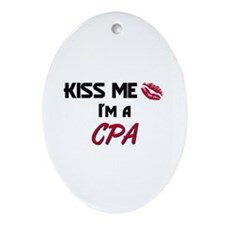 Kiss Me I'm a CPA Oval Ornament