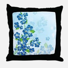 Forget Me Not Flowers Throw Pillow