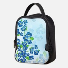 Forget Me Not Flowers Neoprene Lunch Bag