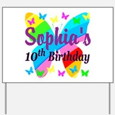 PERSONALIZED 10TH Yard Sign