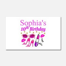 PERSONALIZED 10TH Car Magnet 20 x 12