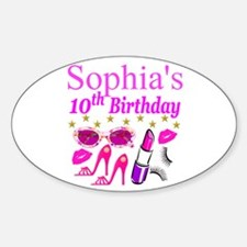 PERSONALIZED 10TH Decal