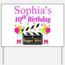 Happy 10th Birthday Happy 10th Birthday Yard Signs