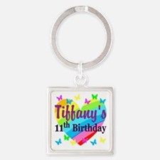 PERSONALIZED 11TH Square Keychain