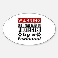 Protected By Foxhound Dog Decal