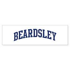 BEARDSLEY design (blue) Bumper Car Sticker