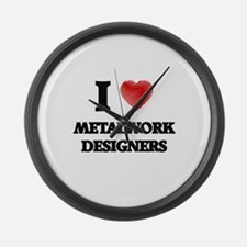 I love Metalwork Designers Large Wall Clock