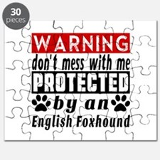 Protected By English Foxhound Dog Puzzle