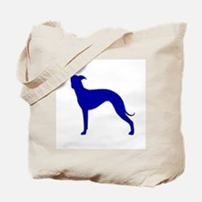 Greyhound Two Blue 1C Tote Bag