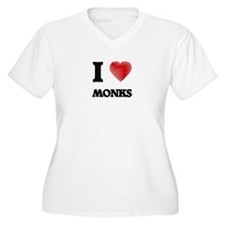 I love Monks Plus Size T-Shirt