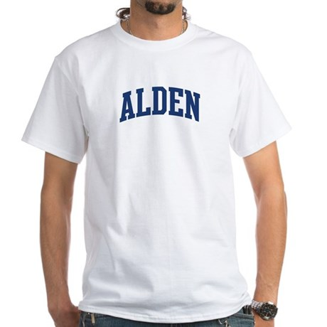 ALDEN design (blue) White T-Shirt