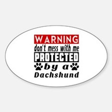 Protected By Dachshund Dog Decal