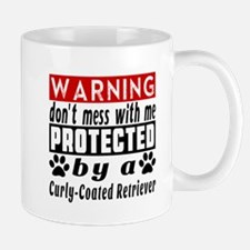 Protected By Curly Coated Retriever Dog Mug