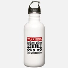 Protected By Curly Coa Water Bottle