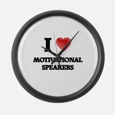 I love Motivational Speakers Large Wall Clock