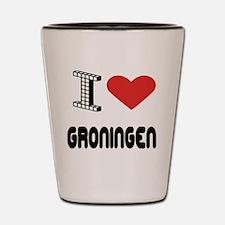 I Love Groningen City Shot Glass