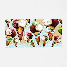 Ice Cream Cones Cartoon Pattern Aluminum License P