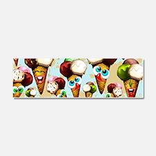 Ice Cream Cones Cartoon Pattern Car Magnet 10 x 3