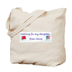 Waiting on my daughter...from Tote Bag