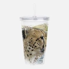 Cheetah Acrylic Double-wall Tumbler