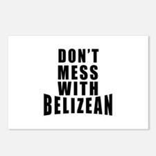 Don't Mess With Belizean Postcards (Package of 8)