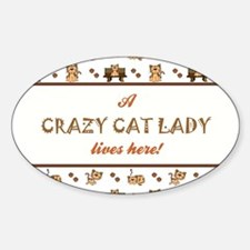 CRAZY CAT LADY Decal