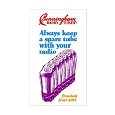 Cunningham Tubes Rectangle Decal