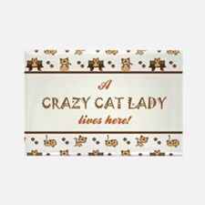 CRAZY CAT LADY Magnets