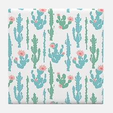 Cute Cactus flower Tile Coaster