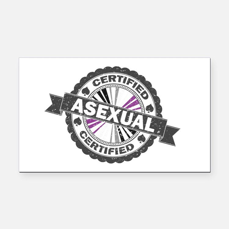 Certified Asexual Stamp Rectangle Car Magnet