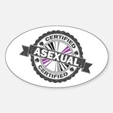 Certified Asexual Stamp Sticker (Oval)