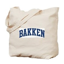 BAKKEN design (blue) Tote Bag