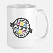 Certified Pansexual Stamp Large Mug