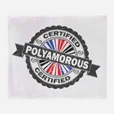 Certified Polyamory Stamp Throw Blanket