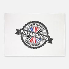 Certified Polyamory Stamp 5'x7'Area Rug