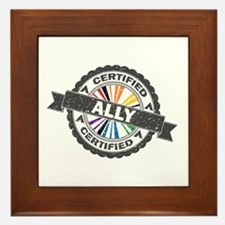 Certified LGBT Ally Stamp Framed Tile