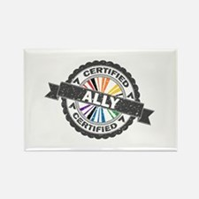 Certified LGBT Ally Stamp Rectangle Magnet