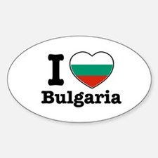 I love Bulgaria Oval Decal