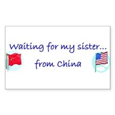 Waiting for my sister...from Sticker (Rectangular