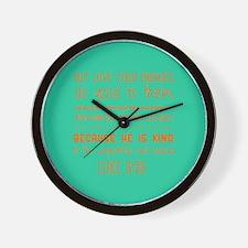 Quirky Modern Bible Verse Wall Clock