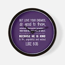Bible Verse Luke 6:35 Wall Clock