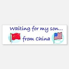 Waiting for my son...from Chi Bumper Bumper Bumper Sticker