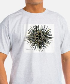 Sea Urchin (Front) Ash Grey T-Shirt