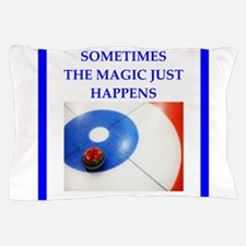 Cute Curling player Pillow Case