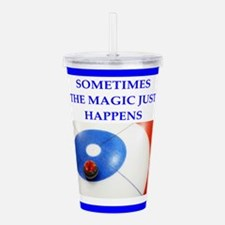 Cute Curling humor Acrylic Double-wall Tumbler