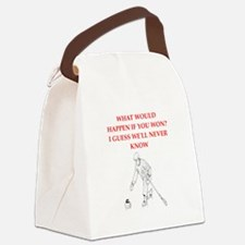 Unique Curling broom Canvas Lunch Bag